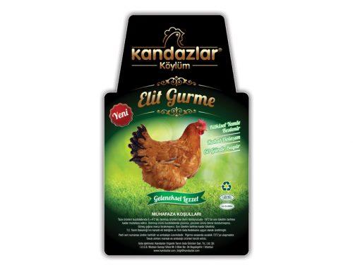 Kandazlar Tavuk Etiket Tasarımları