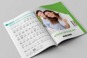 interkom sistemleri katalog tasarım