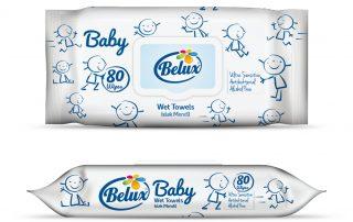 wet towels package design